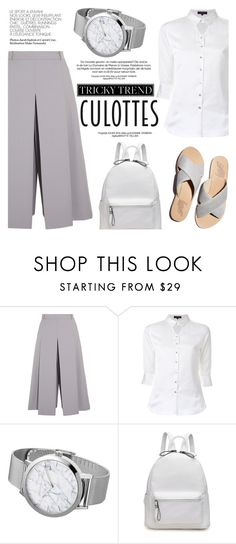 """""""Tricky Trend: Chic Culottes"""" by christianpaul ❤ liked on Polyvore featuring Vilshenko, Loveless, TrickyTrend, contestentry, culottes and christianpaulwatches"""