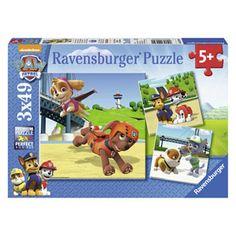 Puzzle 3x49 pieces equipe 4 pattes pat'patrouille