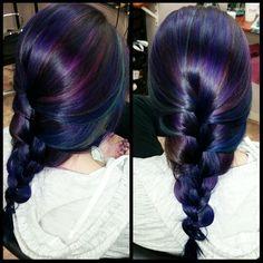 Purple blue teal pink hair hair hair!! ♡♡ created by Joy Smith, nashua NH