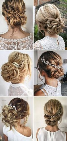 Loose Updo Bridal & Wedding Hairstyle Ideas