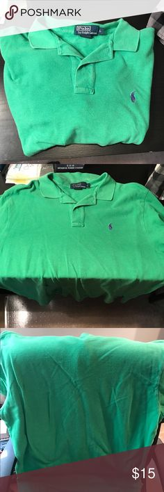 Men's Polo by Ralph Lauren large short sleeve Ralph Lauren polo green! Size large ! In great shape thanks!!!! Polo by Ralph Lauren Shirts Polos