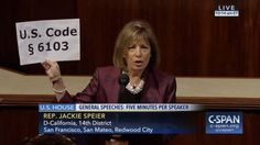 Who: Representative Jackie Speier (D-California) When: February...