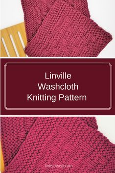 Linville is a dishcloth & washcloth pattern that makes such an attractive design. It is an easy pattern using only knit & purl stitches and every other row is a knit row, making Linville a quick & easy knit.