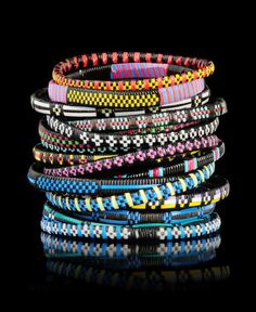 bracelet stack in glorious colors