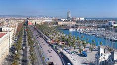Vista del puerto de Barcelona