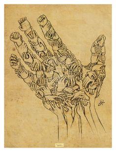 Tag 185 – Fingernägelkauen (6) Selbst-Bild innerhalb meiner Hände bzw. meiner Fingernägel