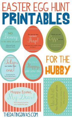 Make your man hunt for his Easter Basket this year! We have all of the free Easter Egg Hunt printables and clues already done for you.