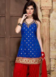 Beguiling Benarasi Silk Patiala Suit