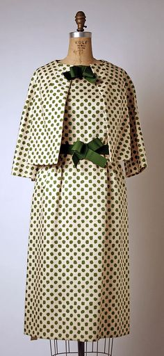Yves Saint Laurent (French (born Algeria) Oran 1936–2008 Paris) Date: spring/summer 1960 Culture: French Medium: silk