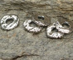 Etched Skinny Spacer Beads in Sterling Silver, AD601