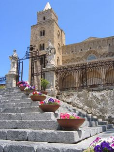 Cathedral in Cefalu, Province of Palermo, Sicily region Italy #palermo #sicilia #sicily