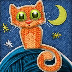 Fabric Cat by Tatyana Adzhaliyska