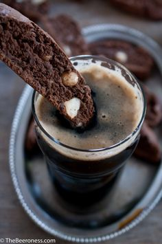 Beerscotti: Chocolate Beer Biscotti, Made with Beer for Beer