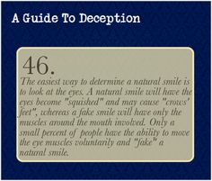A Guide To Deception — Submitted by Anonymous