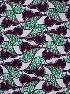 African Fabric Print Super Wax 6 Yards 100% Cotton sw1371507