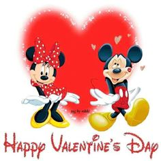 Valentine's Day Mickey And Minnie Happy Valentines Day Pictures, Valentines Movies, Disney Valentines, Valentine Images, Valentine Day Gifts, Snoopy Valentine, Images Disney, Disney Pics, Disney Quotes