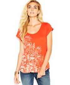 Lucky Brand Floral-Print Top - OWN THIS