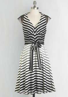 Illusion My Mind Dress. Going gaga over this black-and-white dress from Coconinno by Eva Franco? #multi #modcloth