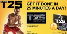 T25 Workout Love Shawn T!!! 25 mins/ day and feeling the burn, Love it!!