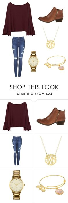 """Christmas Party"" by nikeprepster16 ❤ liked on Polyvore featuring MANGO, Lucky Brand, Topshop, Kate Spade and Alex and Ani"