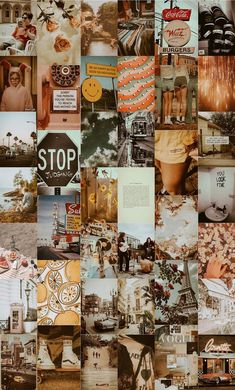 WALL COLLAGE KIT - Vintage Wall Collage - Picture Collage Kit - Dreamy Retro Wall Collage Kit - Photo Wall Collage Décor - Dorm Room Decor