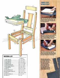 Cherry Dining Chair Plans - Furniture Plans and Projects - Woodwork, Woodworking, Woodworking Plans, Woodworking Projects Dinning Chairs, Outdoor Chairs, Outdoor Furniture, Outdoor Decor, Dining Room, Woodworking Plans, Woodworking Projects, Small Faces, Home Jobs