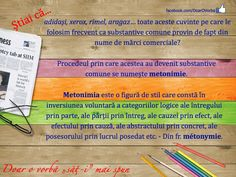 metonimíe (me-to-/met-o-) s. metonimía, g. Romanian Language, Doom 2, Rimmel, Languages, Literatura