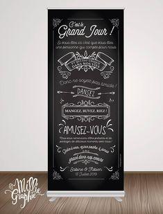 RollUp ardoise, tableau noir, affiche de mariage, entrée mariage, pancarte mariage bienvenue {FICHIER NUMERIQUE}