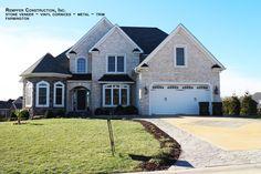 Rempfer Construction, Inc. Cornices, Stone Veneer, Metal Trim, Farmhouse, Construction, Mansions, Future, House Styles, Home Decor