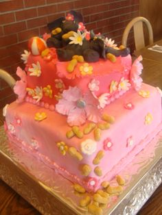 Baby shower cake with playful elephants by Cynthia's Elegant Cakes and Pastries