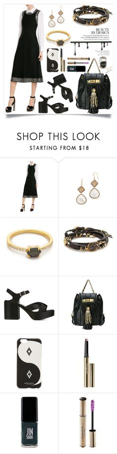 """Midi Dress with Eyelets"" by camry-brynn ❤ liked on Polyvore featuring Alexander Wang, Theia Jewelry, Samantha Wills, NAKAMOL, Jil Sander, Moschino, Marcelo Burlon, Trish McEvoy, JINsoon and Christian Dior"