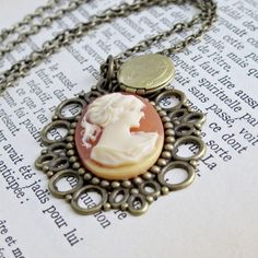 Cameo Jewelry Vintage Cameo Necklace by laurenblythedesigns, $26.00