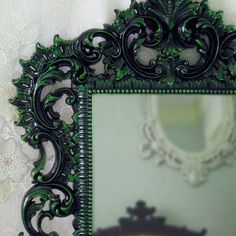 gothic green and black chair - Google Search