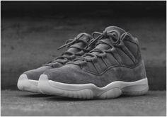 b02a15df3d2bb Nike Air Jordan XI 11 Premium Suede Cool Grey Men Shoes 914433-0031 Jordan  Outfits
