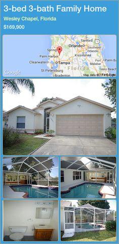 3-bed 3-bath Family Home in Wesley Chapel, Florida ►$169,900 #PropertyForSaleFlorida http://florida-magic.com/properties/62234-family-home-for-sale-in-wesley-chapel-florida-with-3-bedroom-3-bathroom