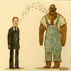 The Great Showdowns: The Green Mile by Scott C. Horror Movie Characters, Horror Movies, Withnail And I, Character Art, Character Design, Non Plus Ultra, Funny Paintings, Cinema, King Book