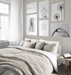 Monochrome gallery wall for bedroom in the group Gallery walls at Desenio AB Cozy Bedroom, Bedroom Inspo, Bedroom Decor, Interior Decorating, Interior Design, Inspiration Wall, New Room, Home Decor Styles, Gallery Walls