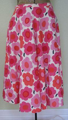 Wonderful Vintage Circle Skirt  Marimeko Fabric
