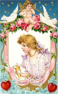 vintageValentine Crafts  | Vintage Valentine Cards/ Crafts