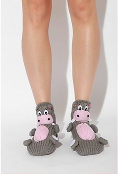 Hippo socks, gotta make these for my sista