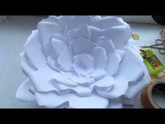 A_R DIY:Большие цветы из бумаги для декора!) - YouTube