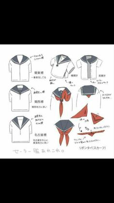 How to correctly tie a seifuku scarf/ribbon tutorial - useful for school uniform cosplays! Cosplay Diy, Cosplay Costumes, Visual Kei, Manga Anime, Anime Art, Harajuku, Japanese School Uniform, Fashion Moda, Character Design References