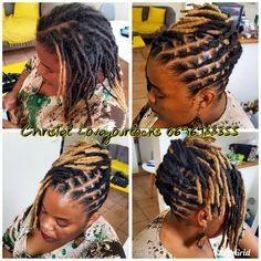 Flat twist, loc updo on short locs Dreads Styles For Women, Short Dreadlocks Styles, Short Locs Hairstyles, Dreadlock Styles, My Hairstyle, Cool Hairstyles, Black Hairstyles, Wedding Hairstyles, Loc Updo