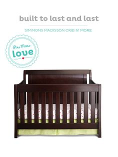 Babies grow up fast. Plan ahead with the Simmons Madisson convertible crib.