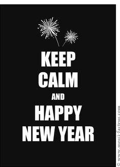 Carte Keep calm et Happy New Year pour envoyer par La Poste, sur Merci-Facteur !