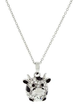 Andrew Hamilton Crawford Rhodium Plated Cow Necklace