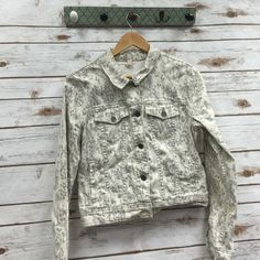 Free people Jacket Adorable free people jacket! Cream and grey in color Free People Tops