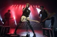 Michael, Luke and Calum onstage in Glasgow! :) 2.23.14