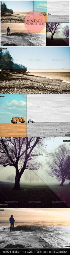 Buy Vintage Photo Effects by iPSDhunter on GraphicRiver. Vintage Photo Effects is a set of amazing Photoshop actions, Just a clicks and you will transform good photos in AMA. Cool Photoshop, Effects Photoshop, Best Photoshop Actions, Photography Tools, Photoshop Photography, Landscape Photography, Photoshop Plugins, Photo Effects, Original Image