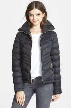 This Michael Kors down jacket is sooo cute and an incredible deal!  And it has leopard lining!!!!!!  It's in the Nordstrom Anniversary Sale!